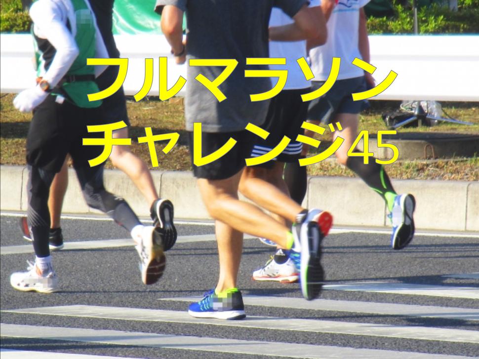 45歳のオッサンがフルマラソンのサブ4.5に挑戦します名付けてチャレンジ45