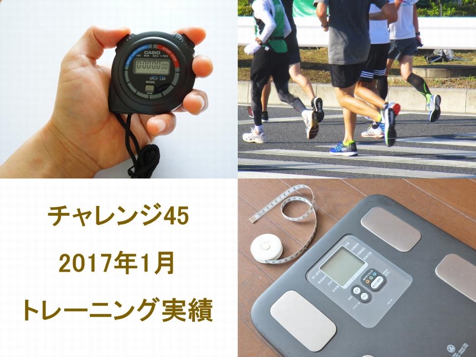 チャレンジ45の2017年1月のトレーニング実績
