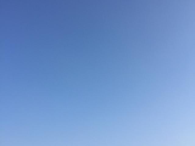 空きの雲一つ無い青空