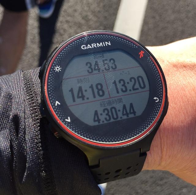 サブ4.5の頃は34.53kmでした。