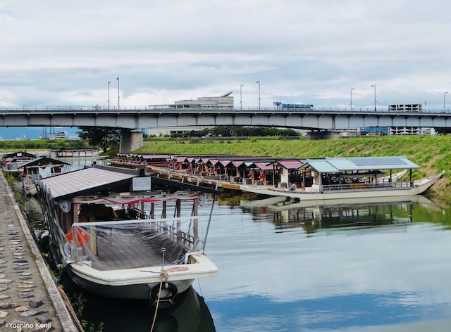 岐阜城下長良川鵜飼い船