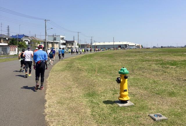 東日本国際親善マラソンのコース途中