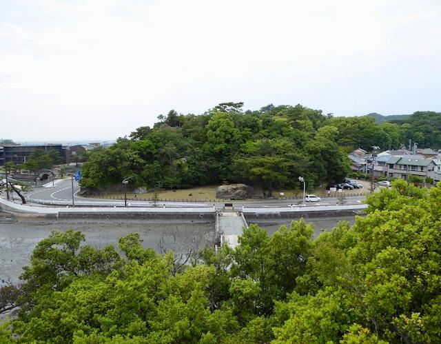和歌浦の妹背山の山頂からの景色