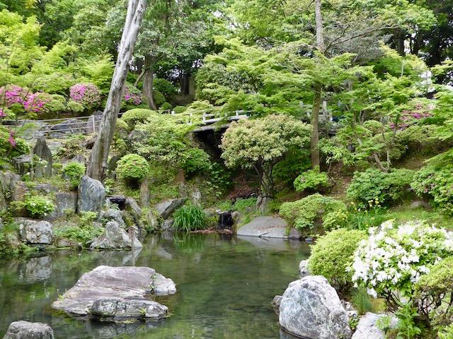 和歌山城の紅葉渓庭園