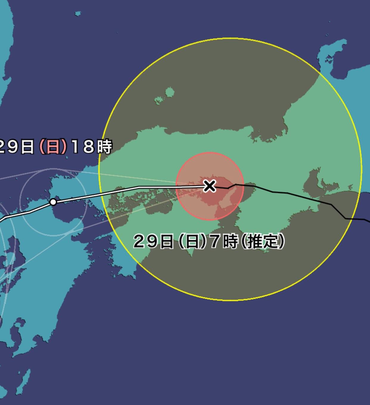 2018年7月29日の台風12号