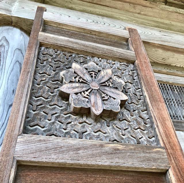 仏殿にあった、永平寺の紋