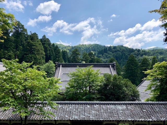 永平寺の法堂からの眺め
