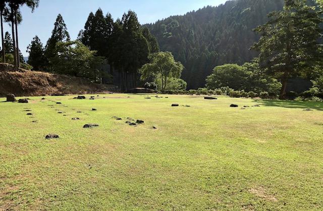 一乗谷朝倉氏遺跡の中の御殿跡