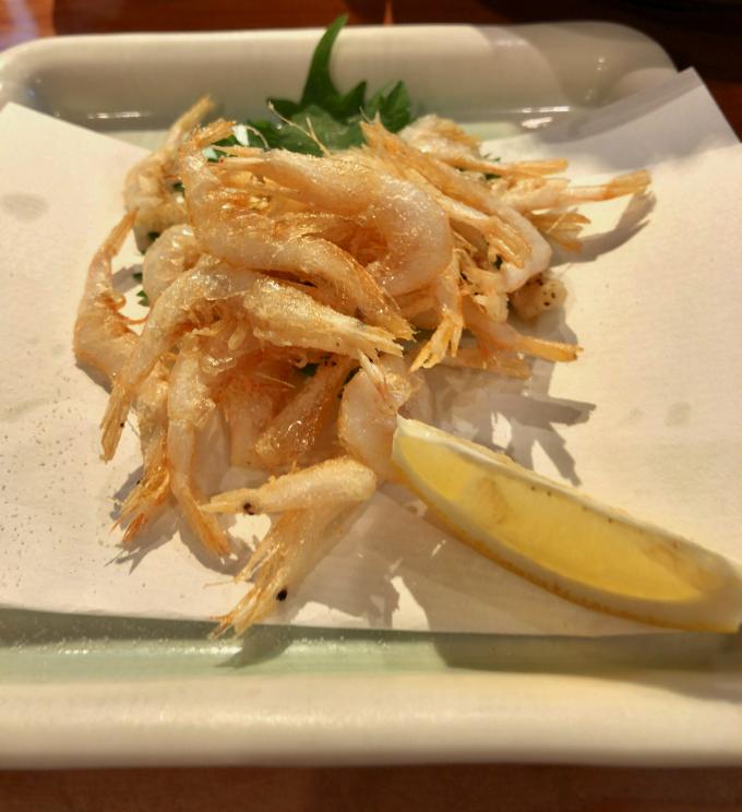 金沢で食べた白えび唐揚げ