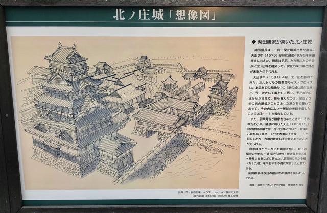 北ノ庄城の想像図