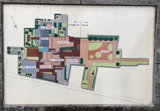 北ノ庄城址の案内図