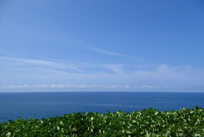 輪島の日本海の海原 、青い海が気持ちいい