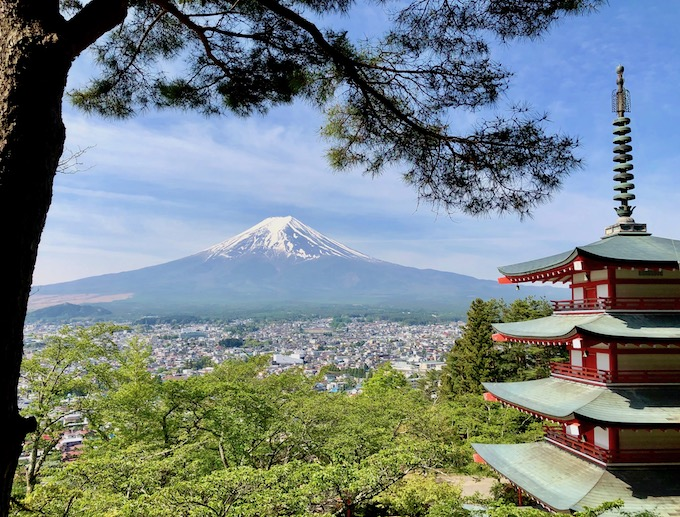 新倉山浅間公園の絶景ビューポイント
