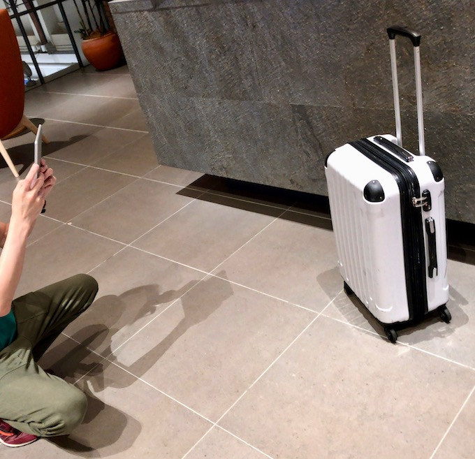 echo cloak荷物の写真を受付店舗側のアプリで撮影して荷物預け完了