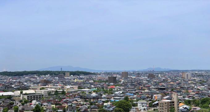 久保田城御隅櫓からの景色